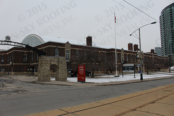 Fort York Armory Toronto Ontario Can Sky Roofing