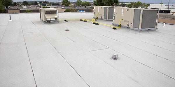 Commercial roofing - Modified bitumen roof replacement - Can-Sky Roofing and Sheet Metal Inc.
