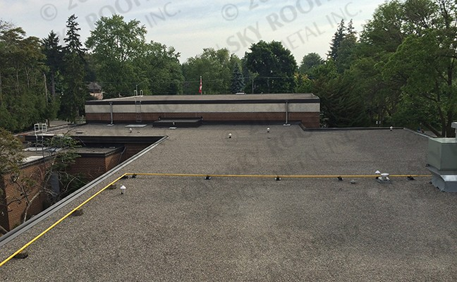 Clarkson Primary School - Built-Up Roof BUR flat roof replacement Mississauga