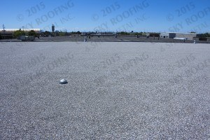 Industrial roofing - Built-Up Roof BUR flat roof replacement - Can-Sky Roofing and Sheet Metal Inc